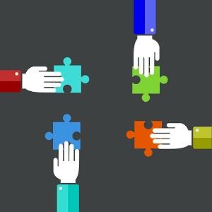 Vector modern teamwork background image
